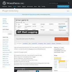 WP Mail Logging — WordPress Plugins