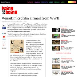 V-mail: microfilm airmail from WWII