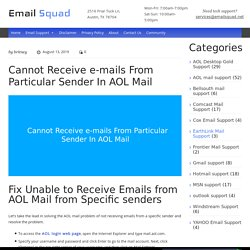 How To Fix AOL Mail Not Receiving Emails