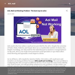 AOL Mail not Working Problem- The best way to solve