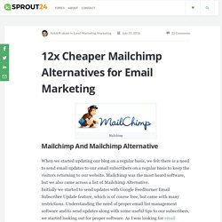 Which Mailchimp Alternative to Use for Email Marketing? - Sprout24