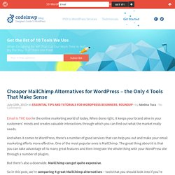 Cheaper MailChimp Alternatives for WordPress
