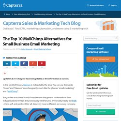The Top 10 MailChimp Alternatives for Small Business Email Marketing