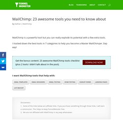MailChimp: 23 awesome tools you need to know about - FunnelMonster