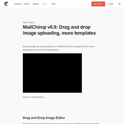 v6.9: Drag and drop image uploading, more templates