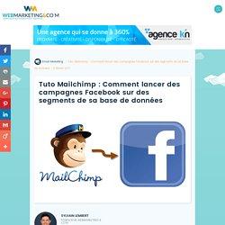 ▷ Tuto Mailchimp : Comment lancer des campagnes Facebook sur des segments de sa base de données