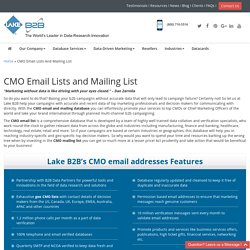 CMO Mailing Addresses