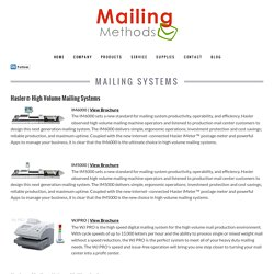Mailing Supplies Systems Machines St Louis