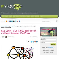 Live Optim - plug-in SEO pour faire du maillage interne sur Wordpress