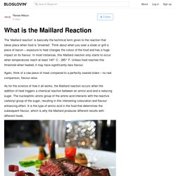 What is the Maillard Reaction