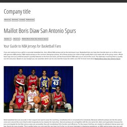 Maillot Boris Diaw San Antonio Spurs - Corporate