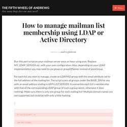 How to manage mailman list membership using LDAP or Active Directory – The Fifth Wheel of andrewg