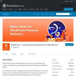 MailPoet – emails and newsletters in WordPress – WordPress plugin