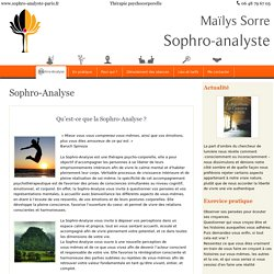 Maïlys Sorre - Sophro-Analyse - Sophro-Analyse