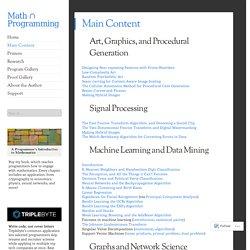 Main Content – Math ∩ Programming