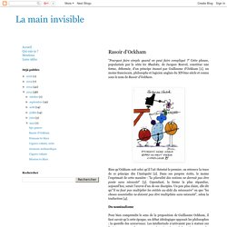 La main invisible : Rasoir d'Ockham