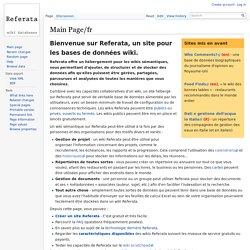 Main Page/fr - Referata