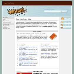 Main Page - Wham! - Marketing Wiki