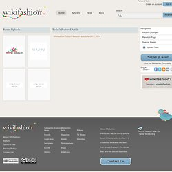 Main Page - Wikifashion