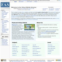 Main Page - FAS Virtual Worlds Almanac