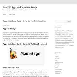 Apple MainStage 3.4.4 Crack + Serial Key Full Free Download