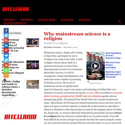 Why mainstream science is a religion