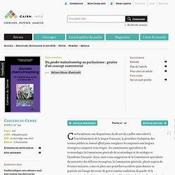 Du gender mainstreaming au paritarisme: genèse d'un concept controversé