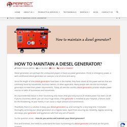 How to maintain a diesel generator?