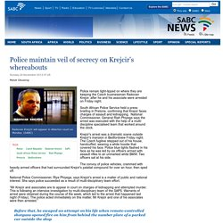 Police maintain veil of secrecy on Krejcir's whereabouts:Sunday 24 November 2013