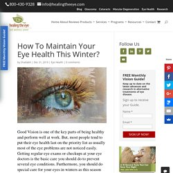 Maintain Your Eye Health This Winter