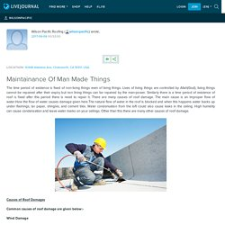 Maintainance Of Man Made Things