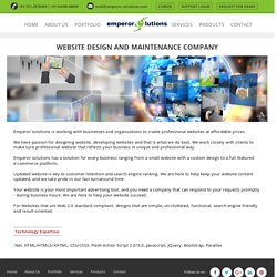 Website Design & Maintainence Services - Emperor Solutions