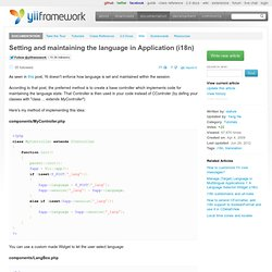 Setting and maintaining the language in Application (i18n)
