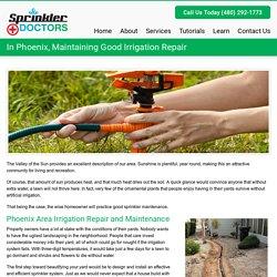 In Phoenix, Maintaining Good Irrigation Repair - Sprinkler DoctorsSprinkler Doctors