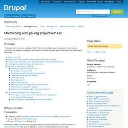 Maintaining a drupal.org project with Git
