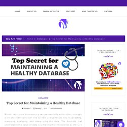 Top Secret for Maintaining a Healthy Database - Minavo™ Telecom Networks