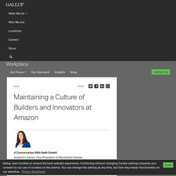 Maintaining a Culture of Builders and Innovators at Amazon