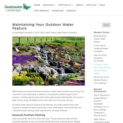 Maintaining Your Outdoor Water Feature