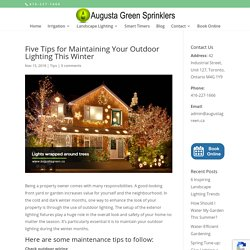 Five Tips for Maintaining Your Outdoor Lighting This Winter