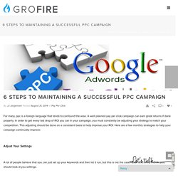 6 Steps to maintaining a successful PPC Campaign