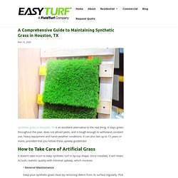 A Guide to Maintaining Synthetic Grass in Houston, TX