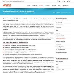 Website Maintenace Services in Hyderabad - Saga Biz Solutions