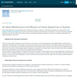 All about Maintenance and Repairs of Home Appliances in Sydney: appliancetechau