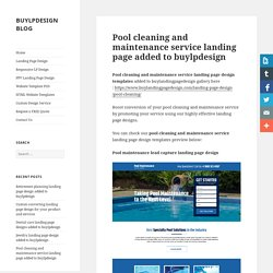 Pool cleaning and maintenance service landing page design