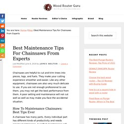 Best Maintenance Tips For Chainsaws From Experts