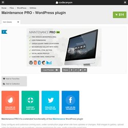 Maintenance PRO - WordPress plugin