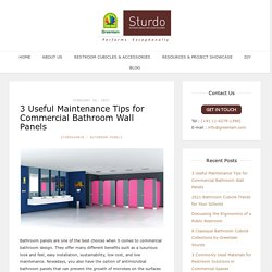 3 Useful Maintenance Tips for Commercial Bathroom Wall Panels