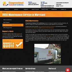 HVAC Maintenance Service in Maryland