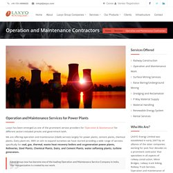 Operation & Maintenance Contractors Company India – Laxyo.com