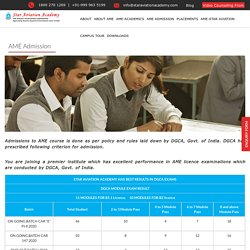 Aircraft Maintenance Engineering (AME) Admission Open